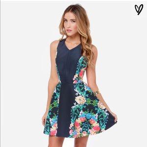 KEEPSAKE The Label Second Chance Navy Floral Dress